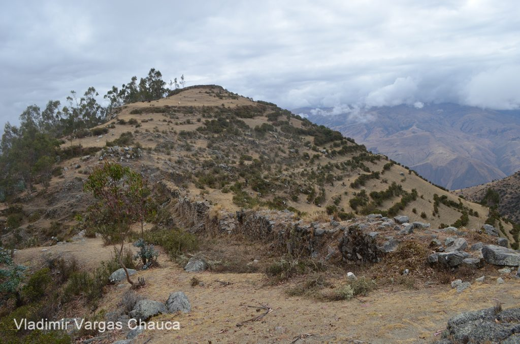 Colca Mountain, with an archaeological site at the top